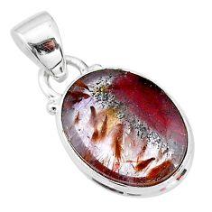 8.60cts natural cacoxenite super seven (melody stone) 925 silver pendant t13043
