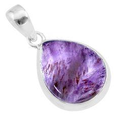 11.57cts natural cacoxenite super seven (melody stone) 925 silver pendant t56749