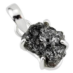3.39cts natural diamond rough 925 sterling silver handmade pendant r79135