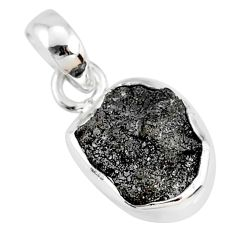 3.41cts natural diamond rough 925 sterling silver handmade pendant r79139