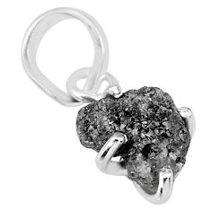 2.75cts natural diamond rough 925 sterling silver handmade pendant r91990