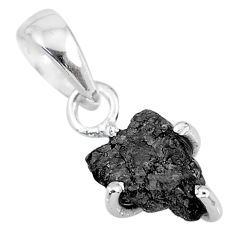 2.37cts natural diamond rough 925 sterling silver handmade pendant r92032