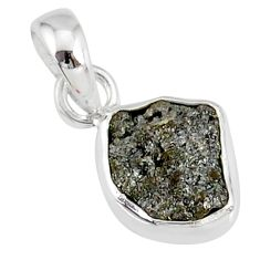 3.16cts natural diamond rough fancy 925 sterling silver handmade pendant r79109