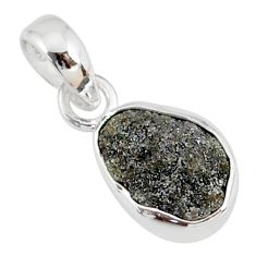3.08cts natural diamond rough fancy 925 sterling silver handmade pendant r79114