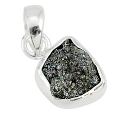 3.11cts natural diamond rough fancy 925 sterling silver handmade pendant r79116