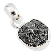 3.18cts natural diamond rough fancy 925 sterling silver pendant r79107