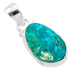 8.56cts natural dioptase 925 sterling silver handmade pendant jewelry t3162