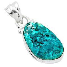 8.33cts natural dioptase 925 sterling silver handmade pendant jewelry t3164
