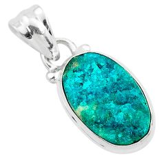 7.17cts natural dioptase 925 sterling silver handmade pendant jewelry t3165