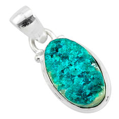 7.50cts natural dioptase 925 sterling silver handmade pendant jewelry t3167