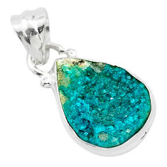6.65cts natural dioptase 925 sterling silver handmade pendant jewelry t3171