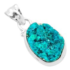 9.27cts natural dioptase 925 sterling silver handmade pendant jewelry t3173