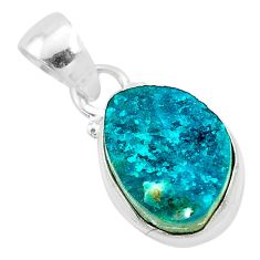 8.33cts natural dioptase 925 sterling silver handmade pendant jewelry t3175