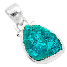 7.50cts natural dioptase 925 sterling silver pendant jewelry t3182