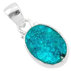 8.00cts natural dioptase 925 sterling silver pendant jewelry t3183
