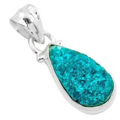 7.04cts natural dioptase 925 sterling silver pendant jewelry t3185
