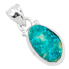 6.65cts natural dioptase 925 sterling silver pendant jewelry t3186