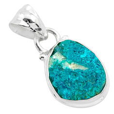 5.13cts natural dioptase 925 sterling silver pendant jewelry t3187