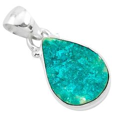 7.50cts natural dioptase 925 sterling silver pendant jewelry t3190