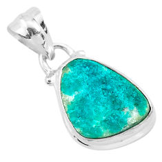 6.68cts natural dioptase 925 sterling silver pendant jewelry t3191