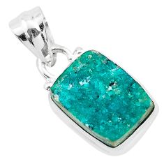 5.54cts natural dioptase 925 sterling silver pendant jewelry t3193