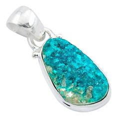 6.19cts natural dioptase 925 sterling silver pendant jewelry t3194