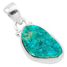 6.88cts natural dioptase 925 sterling silver pendant jewelry t3195