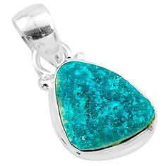 5.45cts natural dioptase 925 sterling silver pendant jewelry t3197