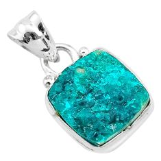 5.13cts natural dioptase 925 sterling silver pendant jewelry t3198