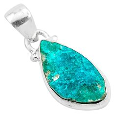 5.74cts natural dioptase 925 sterling silver pendant jewelry t3200