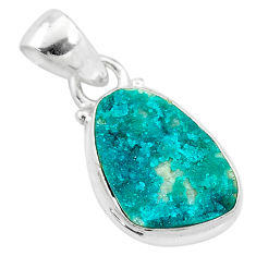 6.26cts natural dioptase 925 sterling silver pendant jewelry t3201