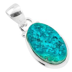 6.26cts natural dioptase 925 sterling silver handmade  pendant jewelry t3202