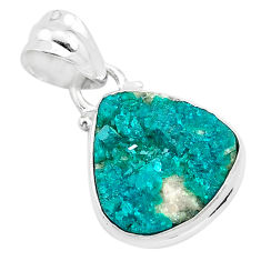8.33cts natural dioptase 925 sterling silver pendant jewelry t3206