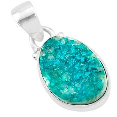 6.58cts natural dioptase 925 sterling silver pendant jewelry t3208