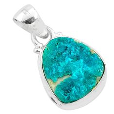 7.96cts natural dioptase 925 sterling silver pendant jewelry t3211