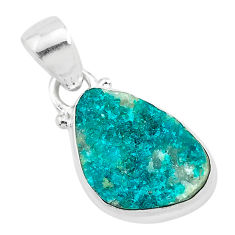 7.96cts natural dioptase 925 sterling silver pendant jewelry t3212