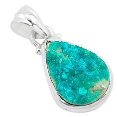 8.90cts natural dioptase 925 sterling silver pendant jewelry t3215