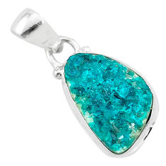 8.00cts natural dioptase 925 sterling silver pendant jewelry t3217