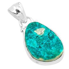 8.95cts natural dioptase 925 sterling silver pendant jewelry t3218