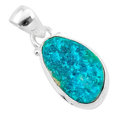 8.51cts natural dioptase 925 sterling silver pendant jewelry t3220