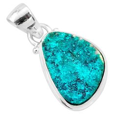 8.03cts natural dioptase 925 sterling silver pendant jewelry t3221