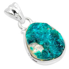 8.84cts natural dioptase 925 sterling silver pendant jewelry t3222