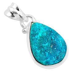 7.63cts natural dioptase 925 sterling silver pendant jewelry t3223