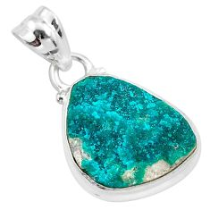 8.51cts natural dioptase 925 sterling silver handmade pendant jewelry t3225
