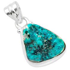 8.84cts natural dioptase 925 sterling silver handmade pendant jewelry t3226
