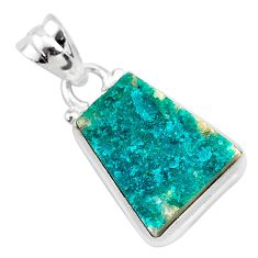 7.63cts natural dioptase 925 sterling silver handmade pendant jewelry t3227