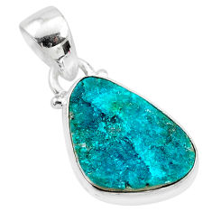 8.03cts natural dioptase 925 sterling silver handmade pendant jewelry t3229