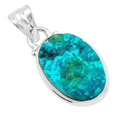 8.87cts natural dioptase 925 sterling silver handmade pendant jewelry t3231