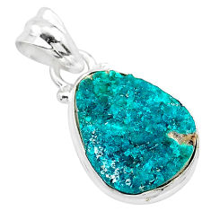8.03cts natural dioptase 925 sterling silver handmade pendant jewelry t3232