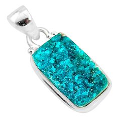8.03cts natural dioptase 925 sterling silver pendant jewelry t3235